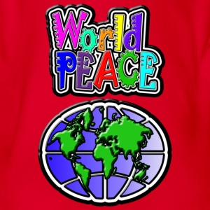 World Peace - Baby bio-rompertje met korte mouwen