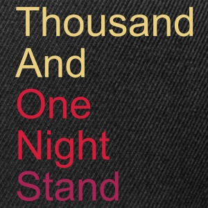 ::  thousand and one night stand 3colors :-: - Snapback Cap