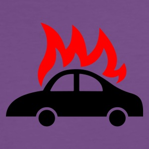 burning car  - Männer Premium T-Shirt