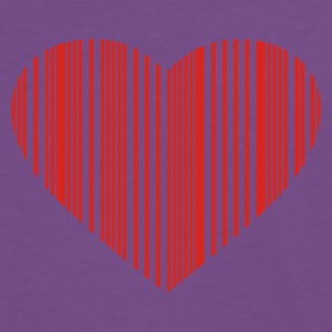 barcode love - Premium T-skjorte for menn