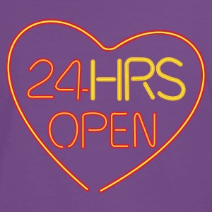 Neon: 24 HRS open heart  - Premium T-skjorte for menn