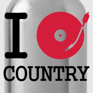 :: I dj / play / listen to country :-: - Trinkflasche