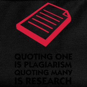 Negro Quoting Plagiarism & Research (2c) Sudadera - Mochila infantil