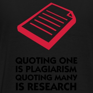 Svart Quoting Plagiarism & Research (2c) Gensere - Premium T-skjorte for menn