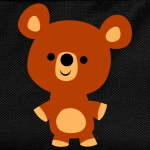 Black Cute Friendly Cartoon Bear Cub by Cheerful Madness!! Kids' Shirts - Kids' Backpack