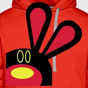 Red Buddy Rabbit  Aprons - Men's Premium Hoodie