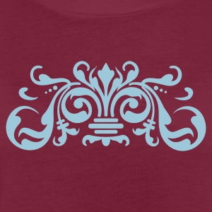 Bordeaux baroque ornament (1c) Schürzen - Frauen Oversize T-Shirt