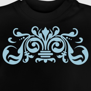 Navy baroque ornament (1c) Kids' Tops - Baby T-Shirt