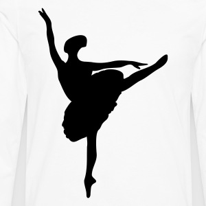 Weiß silhouette ballerina T-Shirts - T-shirt manches longues Premium Homme