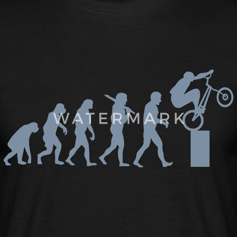 Bike Trial Evolution T-Shirts - Männer T-Shirt