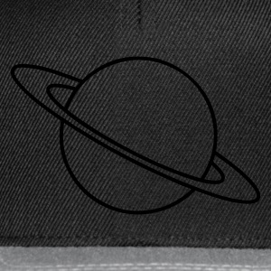 Schwarz Planet Saturn T-Shirts - Snapback Cap