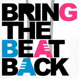 Wit Bring The Beat Back Kinder shirts - Mannen Premium hoodie