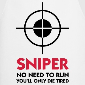 Bianco Sniper - No need to run (2c) T-shirt - Grembiule da cucina
