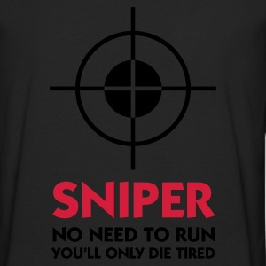 Noir Sniper - No need to run (2c) Polos - T-shirt manches longues Premium Homme