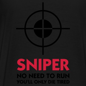 Schwarz Sniper - No need to run (2c) Pullover - Männer Premium T-Shirt