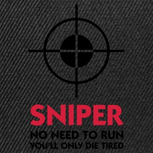 Black Sniper - No need to run (2c)  Aprons - Snapback Cap