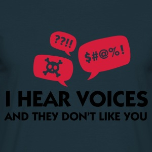 Azul marino I Hear Voices & They Don't Like You (2c) Delantales - Camiseta hombre