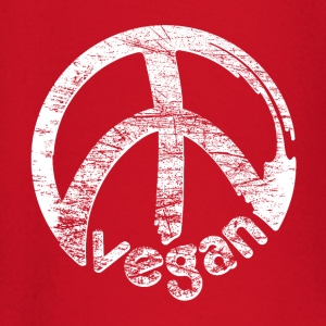 Womens Climateneutral - 'vegan peace' T-shirt - Baby Long Sleeve T-Shirt
