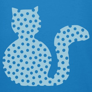 Peacock-blue Cat spotted 2 Bags  - Men's Organic T-shirt