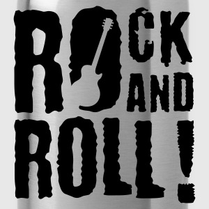 Schwarz rock_and_roll_a_1c Kinder T-Shirts - Trinkflasche
