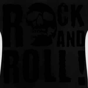 Black rock_and_roll_d_1c Kids' Shirts - Baby T-Shirt