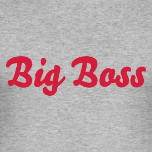 Grau meliert Big Boss Pullover - Männer Slim Fit T-Shirt