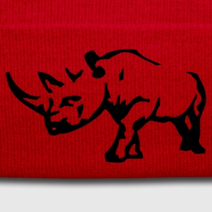 Plommon Rhinoceros T-shirts - Wintermütze