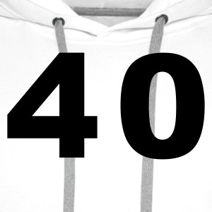White Number - 40 – Forty Women's T-Shirts - Men's Premium Hoodie