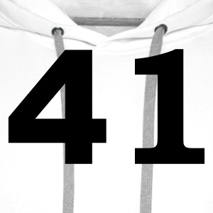 White Number - 41 – Forty-One Men's T-Shirts - Men's Premium Hoodie