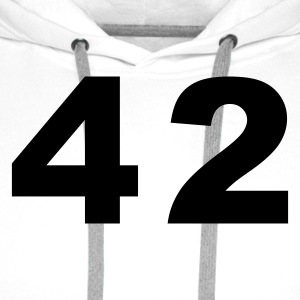 White Number - 42 – Forty Two Women's T-Shirts - Men's Premium Hoodie