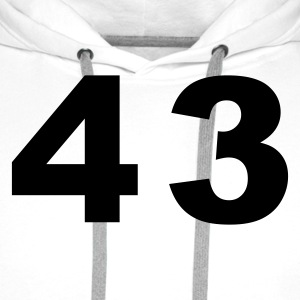 White Number - 43 – Forty Three Men's T-Shirts - Men's Premium Hoodie