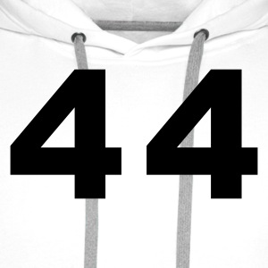 White Number - 44 – Forty Four Women's T-Shirts - Men's Premium Hoodie