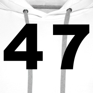 White Number - 47 – Forty Seven Women's T-Shirts - Men's Premium Hoodie