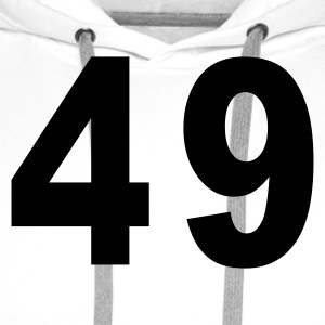 White Number - 49 – Forty Nine Men's T-Shirts - Men's Premium Hoodie