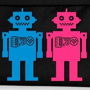 Black retro robot couple Men's T-Shirts - Kids' Backpack