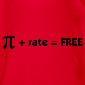 Red Pi + rate = Free (1c) Kids' Shirts - Organic Short-sleeved Baby Bodysuit