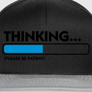 Svart Thinking...please be patient (2c) Undertøy - Snapback-caps