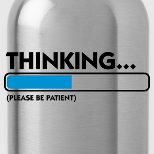Schwarz Thinking...please be patient (2c) Pullover - Trinkflasche