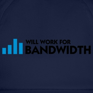 Marineblå Will Work for Bandwidth (2c) Forklæder - Baseballkasket