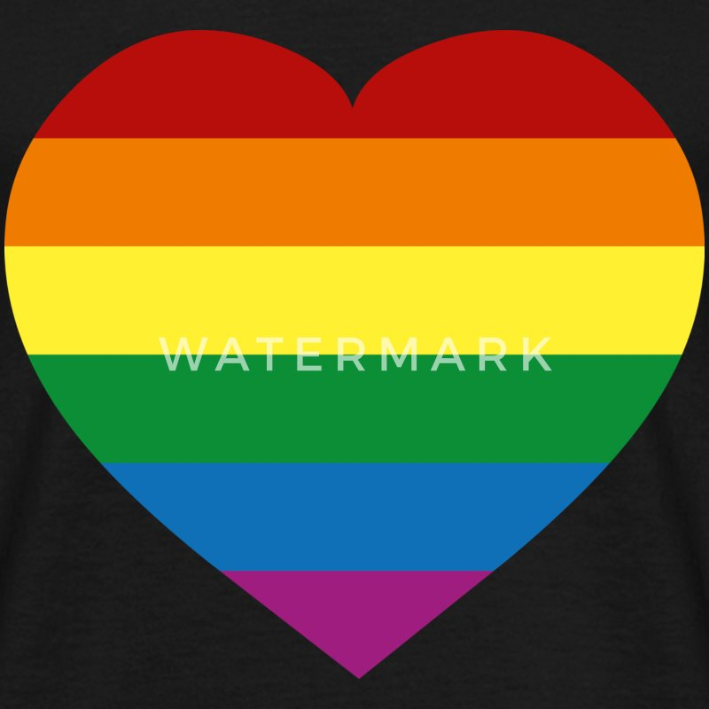 Zwart Rainbow Flag :) T-shirts - Mannen T-shirt