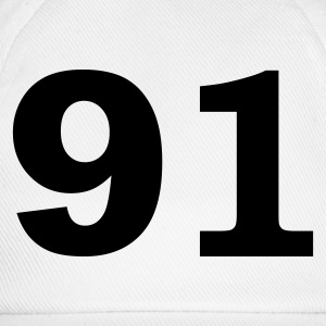 White Number - 91 – Ninety One Women's T-Shirts - Baseball Cap