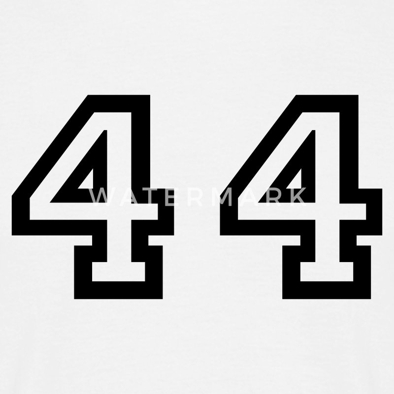 White Number - 44 - Forty Four Men's T-Shirts - Men's T-Shirt