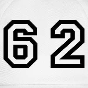 White Number - 62 - Sixty Two Men's T-Shirts - Baseball Cap