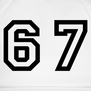 White Number - 67 - Sixty Seven Women's T-Shirts - Baseball Cap