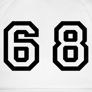 White Number - 68 - Sixty Eight Women's T-Shirts - Baseball Cap