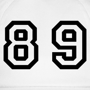 White Number - 89 - Eighty Nine Women's T-Shirts - Baseball Cap