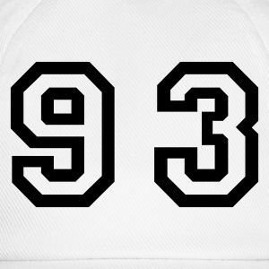 White Number - 93 - Ninety Three Women's T-Shirts - Baseball Cap