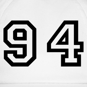 White Number - 94 - Ninety Four Women's T-Shirts - Baseball Cap