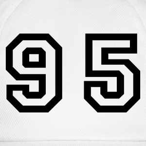 White Number - 95 - Ninety Five Men's T-Shirts - Baseball Cap