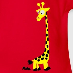 Red Giraffe (c) Kids' Shirts - Organic Short-sleeved Baby Bodysuit